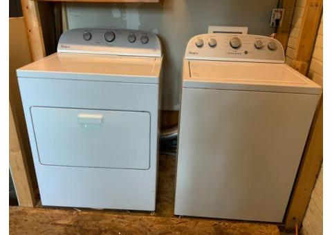 Whirlpool Electric Washer and Dryer White